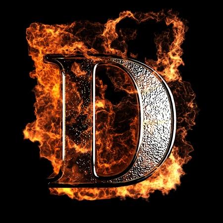 Foto de burning Letter made in 3D graphics - Imagen libre de derechos