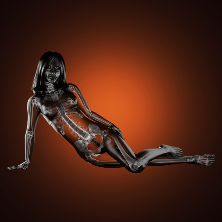 Photo pour cute woman radiography made in 3D - image libre de droit