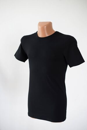 Photo for Mockup of a template of a man's t-shirt color on a white background - Royalty Free Image