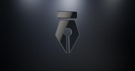 Fountain Pen Nib Black 3d Icon