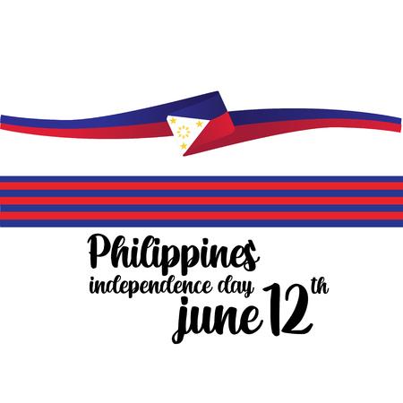 Illustration pour Philippines Independent Day Vector Template Design Illustration - Vector - image libre de droit
