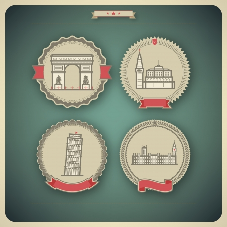 Most famous Architecture Landmarks Around the World, pictured here from left to right, top to bottom: 