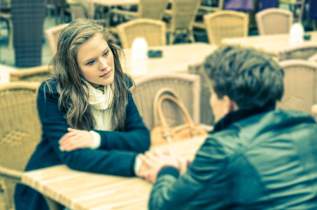 Photo for Couple in a deep moment of a Confession - Royalty Free Image