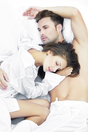 Photo for Sensual couple in bed - Royalty Free Image
