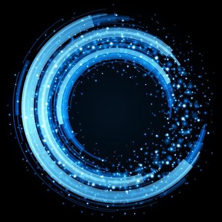 Illustration pour Abstract retro technology circles vector background - image libre de droit