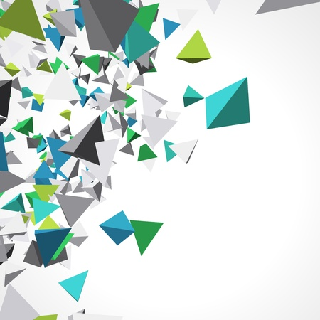 Fly colorful 3d pyramids background