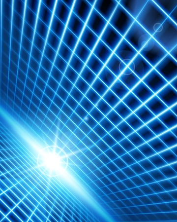 Virtual space with light wire lines background