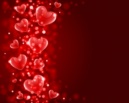 Valentines day or Wedding vector background with hearts