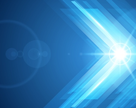 Foto de Abstract 3d technology lines with light vector background - Imagen libre de derechos
