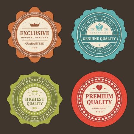 Foto de Vintage labels set design elements - Imagen libre de derechos