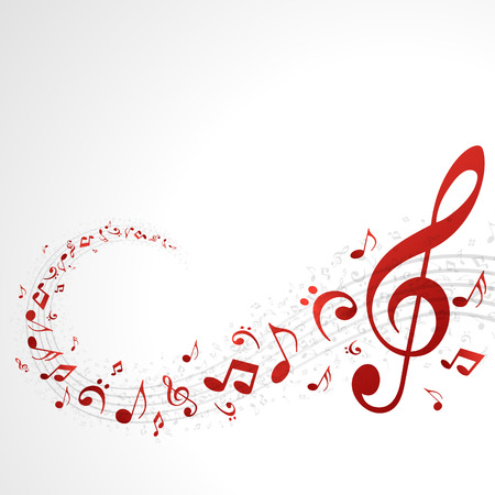 Music background with notes  Vector background