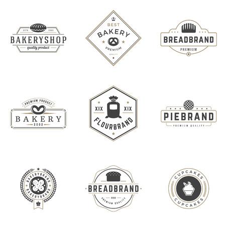 Vektor für Bakery Shop Logos Templates Set. Vector object and Icons - Lizenzfreies Bild
