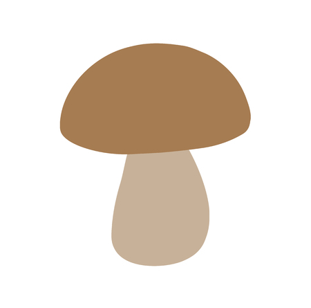 Vector Color Mushroom For Coloring Logo And Design Simple