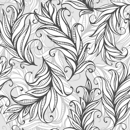 Seamless pattern with amazing feathers. Vector illustration