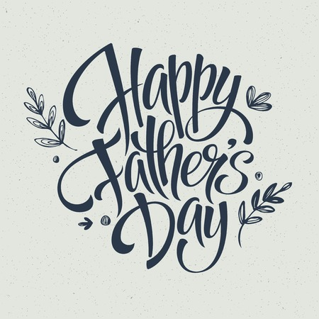 Greeting card template for Father Day.  Vector illustration
