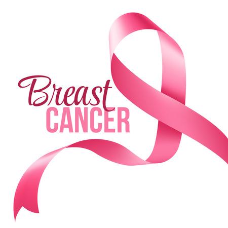Breast Cancer Awareness Ribbon Background. Vector illustration