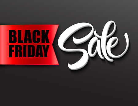 Black friday sale design template. Vector illustration EPS 10