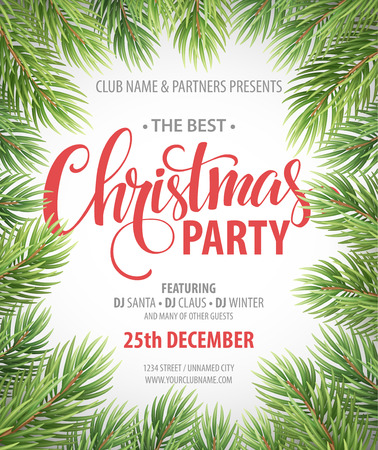 Christmas Party design template. Vector illustration EPS10