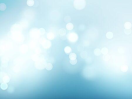 Illustration pour Blue sky with lens flare and bokeh pattern background. Vector illustration - image libre de droit