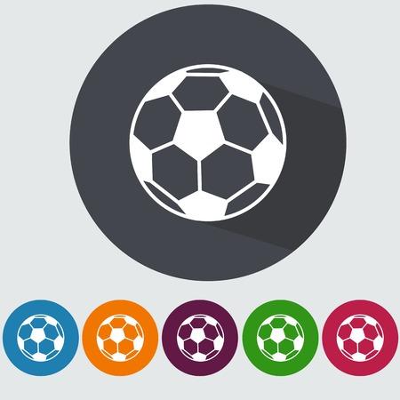 Ilustración de Soccer flat icon with long shadow. - Imagen libre de derechos