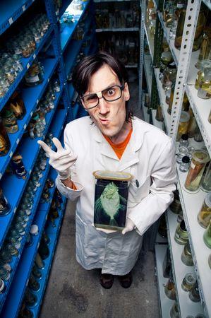 Strange biologist