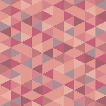 Illustration for Seamless pink pastel triangle pattern. Vector background. Geometric abstract texture - Royalty Free Image