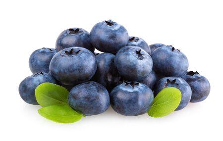 Photo for Fresh blueberries isolated on white background - Royalty Free Image