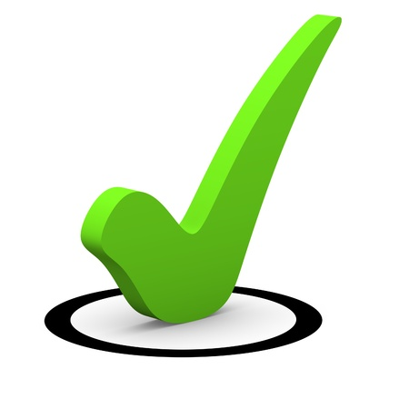 Green checkmark in round checkbox