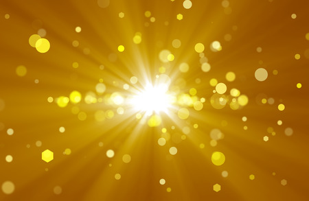 Photo pour Abstract background with golden rays and spots - image libre de droit