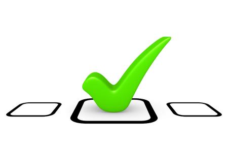 Green checkmark in checklist