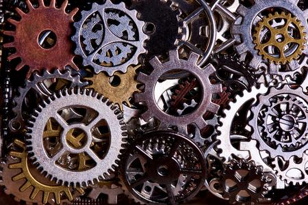 Foto de Background from various gears close-up. - Imagen libre de derechos