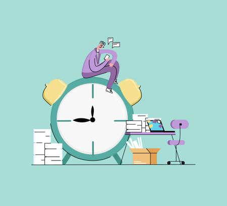 Illustration pour abstract illustration concept of procrastination - image libre de droit