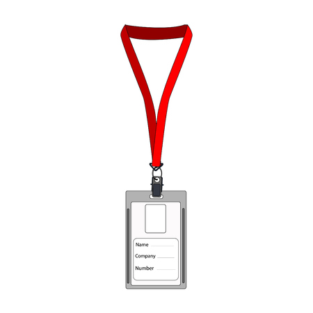 Illustration pour Illustration of  badge, employee badge, employee card, employee id, work badge, name badge - image libre de droit