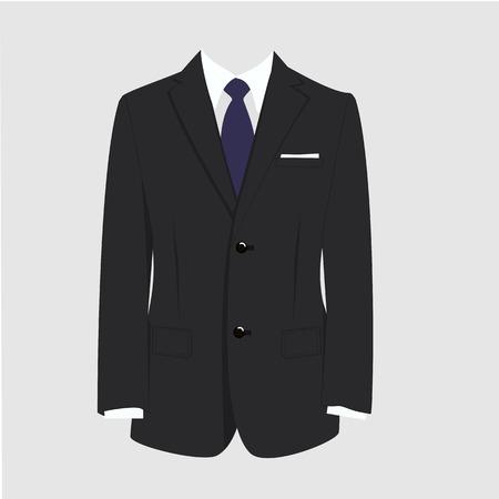 Illustration of  man suit, tie, business suit,  man in suit