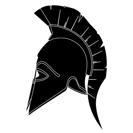 Ancient helmet, greek helmet, spartan helmet, trojan helmet vector silhouette