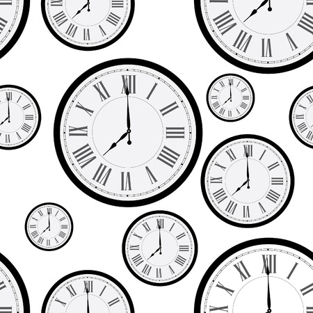 Wall clock with roman numerals icon  Flat illustration of