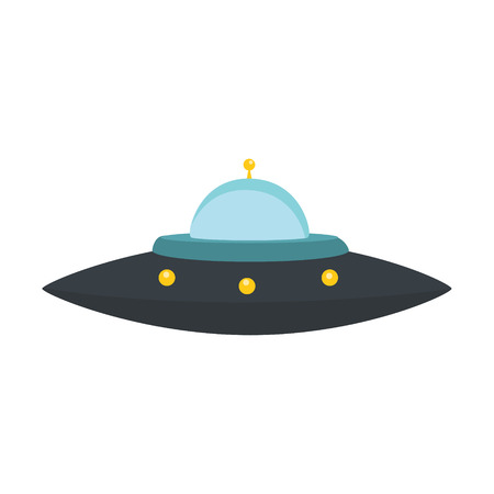 Vector illustration UFO alien spaceship isolated on white backgroundのイラスト素材