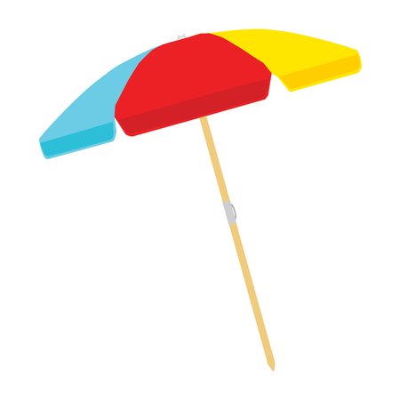 Illustration for Beach umbrella color isolated on white background. Vector illustration - Royalty Free Image