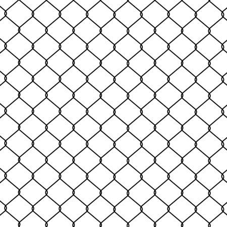 Photo pour Chain link Fence. Seamless pattern, background - image libre de droit