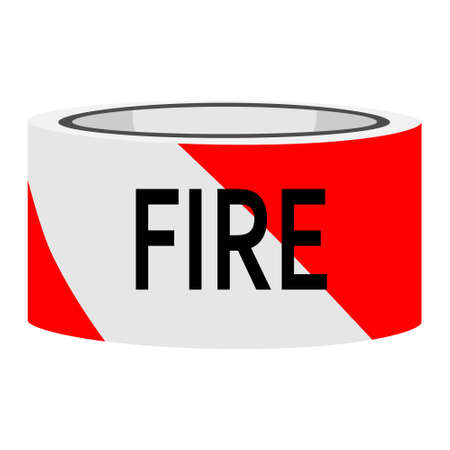 Photo for Fire line do not cross red an white caution tape. - Royalty Free Image