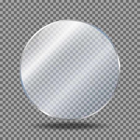 Illustration pour Glass plate on transparent background. Glossy, shine, light, clear. Realistic transparent glass - image libre de droit