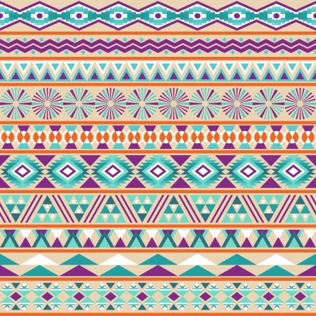 Tribal striped seamless pattern  Geometric multicolor background  Vintage soft colors  Swatches of seamless pattern included in the file