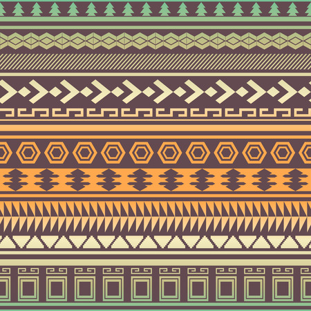 Tribal striped seamless pattern. Geometric aztec background. Can be used in fabric design fo