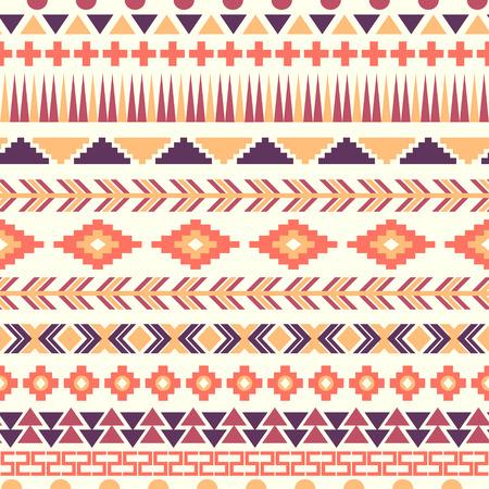 Pink And Purple Aztec Pattern