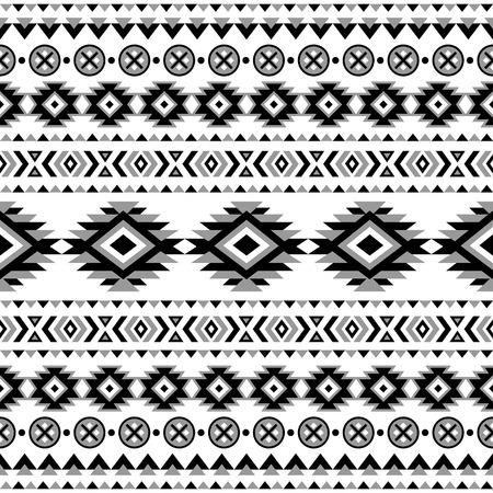Item Description Ethnic Seamless Pattern Aztec Black White Background Tribal Navajo Print Modern Abstract Wallpaper