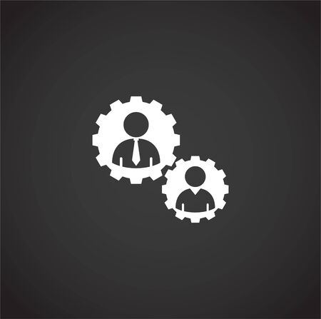 Teamwork related icon on background for graphic and web design. Creative illustration concept symbol for web or mobile app.