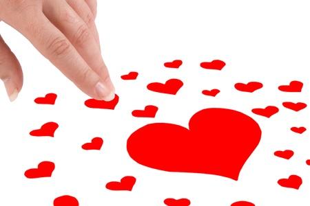 Muchos corazones para elegir y tomarlo en la mano - A lot of hearts to elect and to take it in the hand