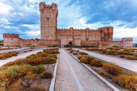 Castle of the Mota - famous old castle in Medina del Campo, Valladolid ,Castilla y Leon, Spain