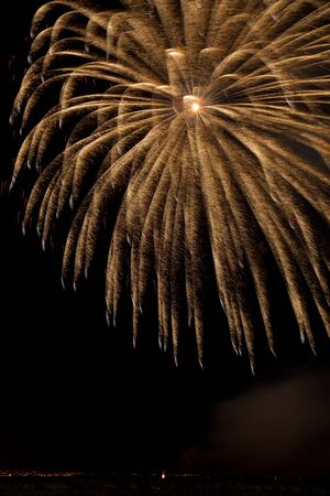 Photo for Firework streaks in the night sky - Royalty Free Image