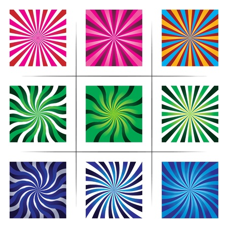 collection of abstract multicolor backgrounds.